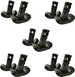 Stander Replacement Ski Glides, Compatible with The EZ Fold-N-Go Walker and The Able Life Space Saver Walker, Black, 5-Pack