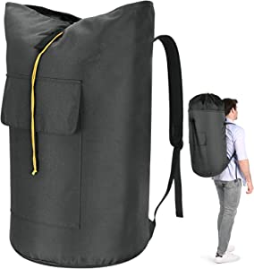 Laundry Backpack Bag, 115L Extra Large Laundry Bag with straps, Heavy Duty Laundry Bag Backpack, Portable Backpack laundry bag for College Dorm, Apartment, Laundromat, College Laundry Bag for students