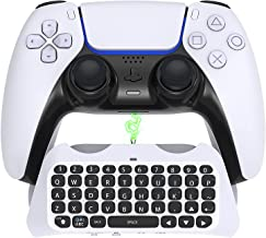 Wireless Keyboard for PS5 Controller, YUANHOT Bluetooth 3.0 Chatpad DualSense Controller Accessories for Playstation 5 wit...