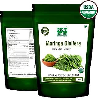 Organic Moringa Powder 1 Pound(16 Ounces), USDA Organic - HerbsIndia