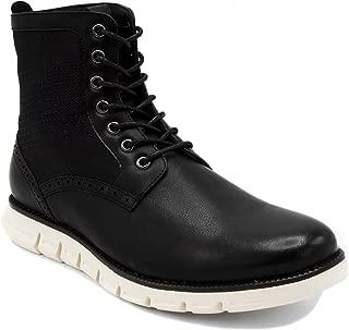 black laceless boots
