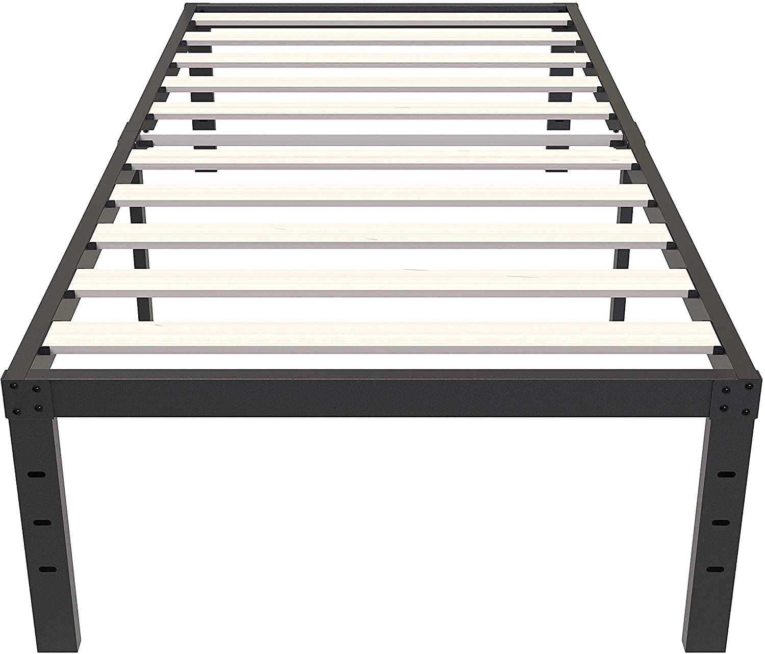 ZIYOO Twin Bed Frame 14 New Free Shipping Inch with Ranking TOP6 Needed no Platform Spring Box