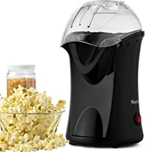 Popcorn Popper, Hot Air Popcorn Maker, 1200W Popcorn Machine with Measuring Cup, Removable Lid, Healthy Popcorn Maker for Home,No Oil Needed