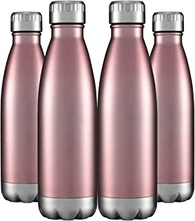 17 oz Insulated Stainless Steel Water Bottle Vacuum Double Wall with Lid for Sports Travel Outdoor Leak Proof (Cola Shape,...