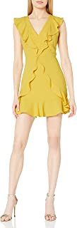 BCBGMAXAZRIA Women's Sleeveless Ruffle Dress