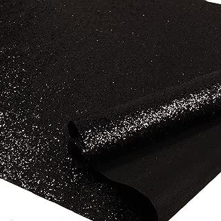 Black Chunky Glitter Wallpaper, 3D Sparkly Glitter Fabric Wall Paper,Bling Wallcovering (Black)