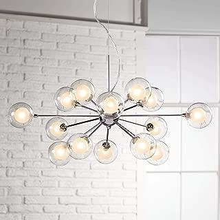 Nickel Sputnik Pendant Light Modern Chandelier Chrome Silver Fixture for Kitchen Dining Room Living Room Lighting - Possini Euro Design