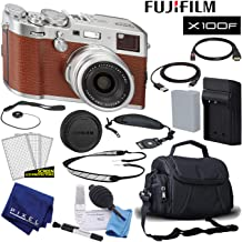 $1299 Get Fujifilm X100F X-Series 24.3 MP Point & Shoot Digital Camera (Brown) with Cleaning Kit and Many More Accessories Basic Bundle