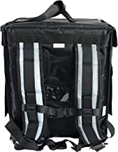 """PK-65Abl: Insulated Pizza Delivery Backpack Bag, Top Load + Side Load. 16"""" L x 12"""" W x 18"""" H, Thermal Food Delivery Box/Cabinet for Catering, Restaurant, Delivery Drivers, 65Liters (Black)"""