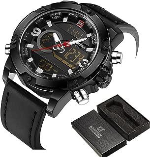 Meetloveyou Men Sport Watches Men's Quartz LED Analog Clock Man Military Waterproof Wrist Watch relogio masculino black