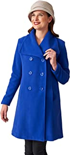 Coat Man 7/8 Length Fitted Double Breasted Square Collar Coat with Inverted Back Pleat