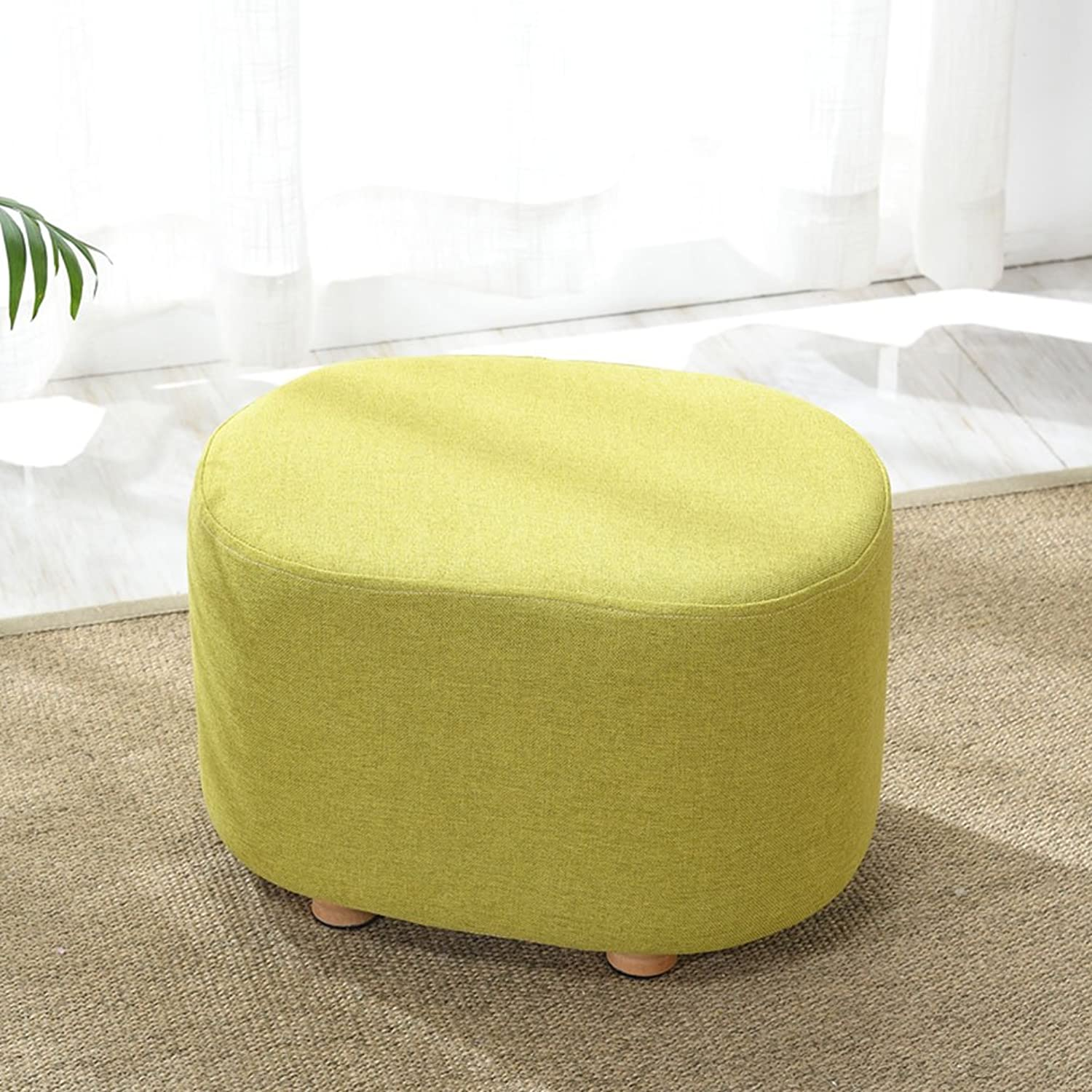 QIDI Stool Cloth Solid Wood Round Living Room Bedroom Foyer 30  40  27cm (color   Styel 2)