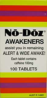 No Doz Awakeners Tablets, 100 count