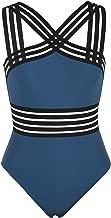 coastal rose Women's One Piece Swimsuit Crisscross Bathing Suit High Waisted Monokini Swimwear