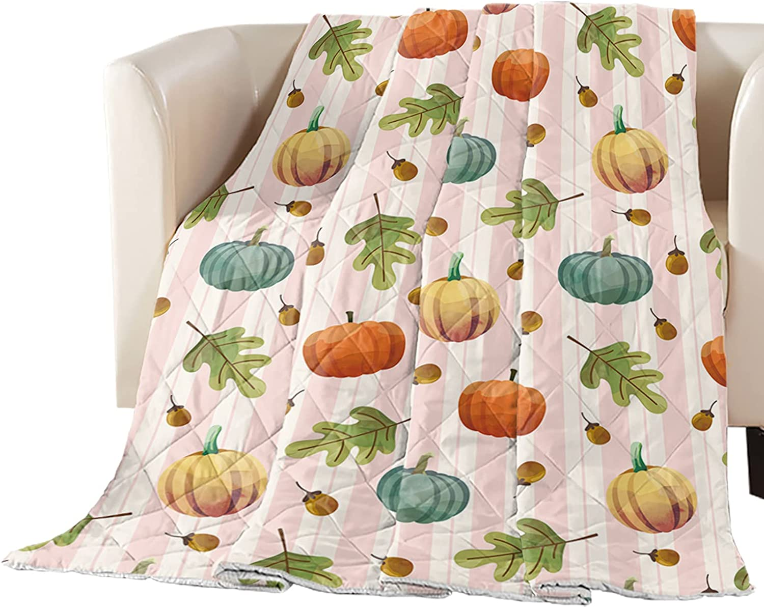 Watercolor Autumn Pumpkin Leaves Pine Sale special price Cone Reversible Alter Down National products