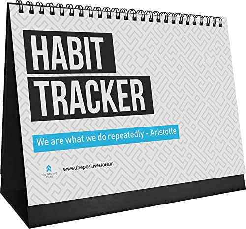 The positive store | Habit Tracker Daily, Weekly and Monthly Planner (undated), Fits Perfectly at Your Desk