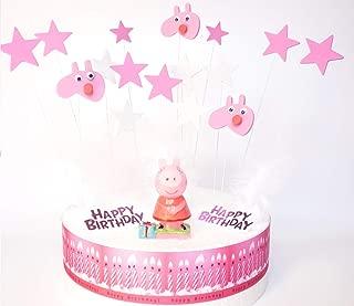 Peppa Pig–Set de decoración de tarta de cumpleaños