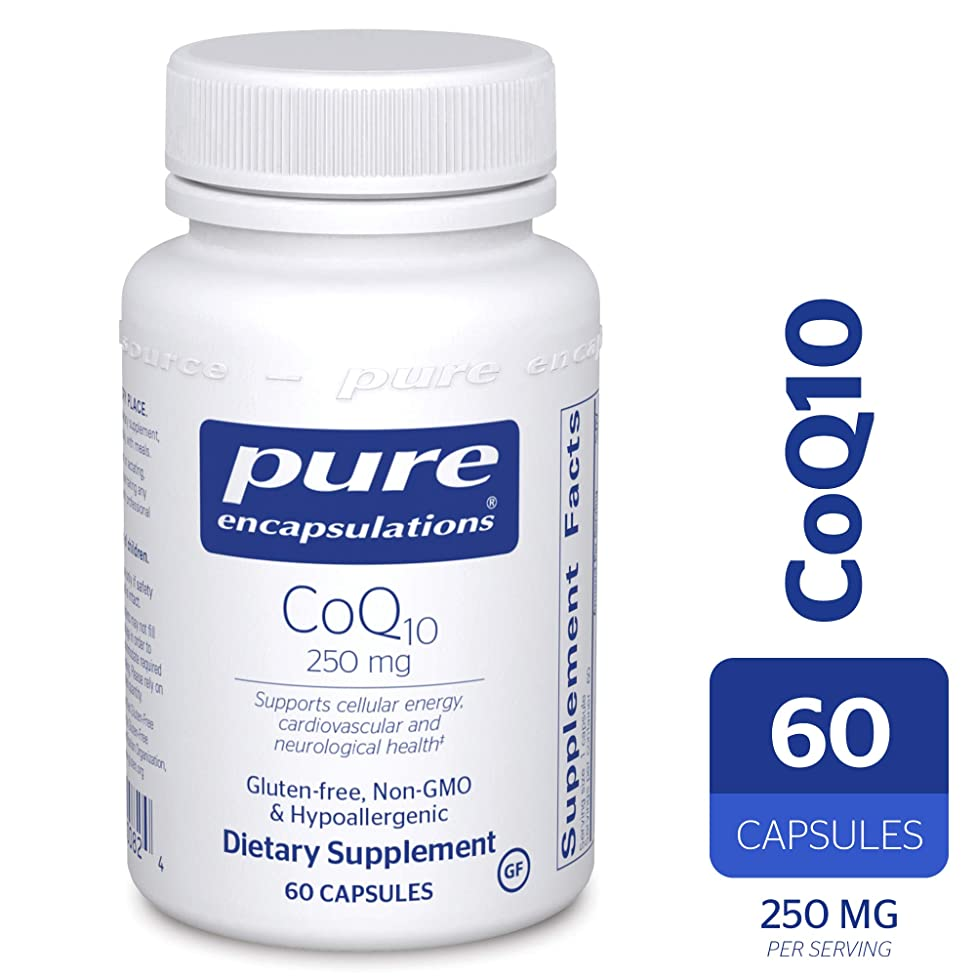Pure Encapsulations - CoQ10 250 mg - Hypoallergenic Coenzyme Q10 Supplement - 60 Capsules