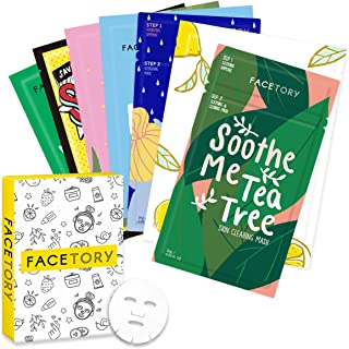 FaceTory Best of Seven Facial Masks Collection - Hydrate, Brighten, Soothe, Revitalize, Nourish, Purify Skin