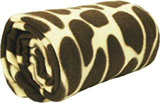 World's Best Cozy-Soft Microfleece Travel Blanket, 50 x 60 Inch, Giraffe, Great for Travel or Lounging at Home