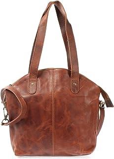 LECONI Shopper Schultertasche Damen Handtasche Ledertasche Natur Henkeltasche aus Leder Damentasche 33x30x10cm LE0060
