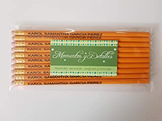 Lápices personalizados con nombre o frase 10 piezas