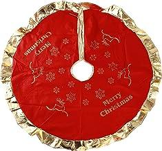 Botreelife Home Christmas Decoration Christmas Tree Skirt Edge Accessory Year Party Cover Carpet Santa Skirt,Style 1