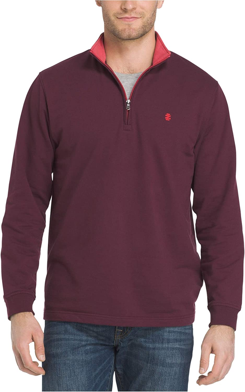 IZOD Mens Nauset Sportflex Pullover Sweater, Red, Small