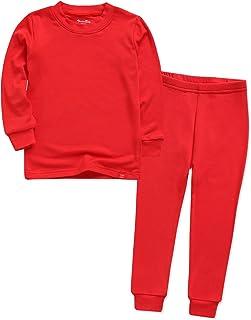 VAENAIT BABY 12M-12 Toddler Kids Unisex Girls & Boys Soft Comfy Modal Tencel Solid Raglan Sleepwear Pajamas Pjs 2pcs Set
