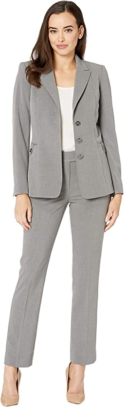 Bistretch Three-Button Pants Suit