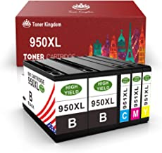 Toner Kingdom Compatible Ink Cartridge Replacement for HP 950 951 950XL 951XL Work with HP OfficeJet pro 8600 8100 8610 8620 8630 8640 8660 8615 8625 251DW 276DW(Black, Cyan, Magenta, Yellow, 5-Pack)
