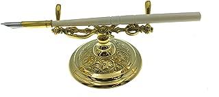 Madison Bay Company Ornate Vintage Style Brass Holder and Pen Set