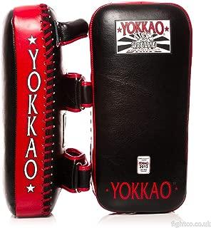 Yokkao Black and Red Kicking Pads Muay Thai Boxing MMA Kickboxing Training Boxing Equipment Gear Martial Arts, Size M