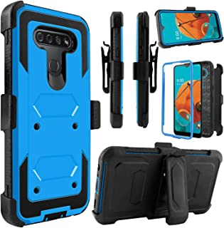 Venoro LG K51 Case, LG Reflect Case, Shockproof Full Body Protection Kickstand Case Cover with Swivel Belt Clip for LG K51 / LG Q51 / LG Reflect 6.5inch (Blue)