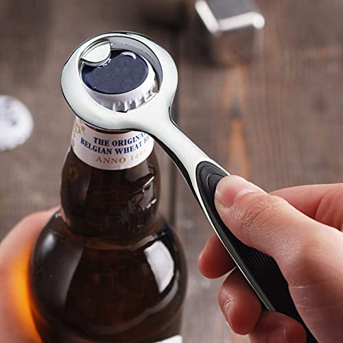 high quality OPTIMISTIC Bartender Bottle Opener, Heavy Duty Metal Beer Bottle Opener, Solid Easy to Use Portable lowest Bottle Openers, Kitchen Barware Alloy Bottle Opening outlet online sale Tool, Anti-Skid Handle, 5.5 Inch outlet sale