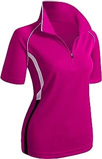 Women's Active Wear Short Sleeve Zipup Polo Shirt