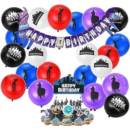 Gamer Birthday Balloons \u2022 #1 Victory Royale Balloons \u2022 Party Supplies \u2022 Goodie Bag \u2022 Video Game Party Balloons \u2022 Game On