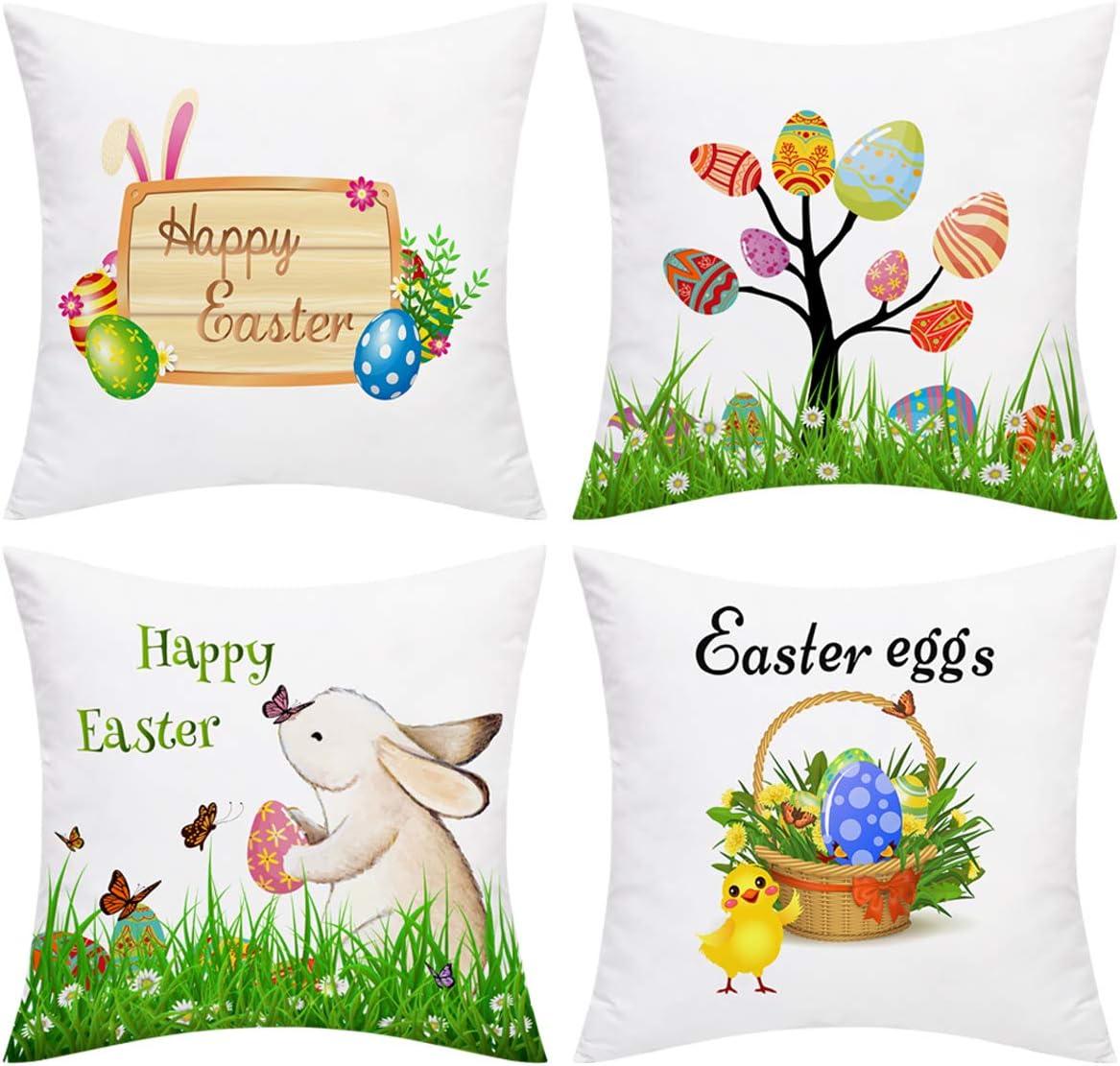 BLEUM CADE discount Happy Regular store Easter Throw Ca Eggs Pillow Cover
