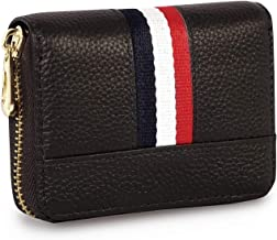 Storite 12 Slot PU Leather Credit/Debit Zipper Card Holder Wallet for Men & Women - Brown