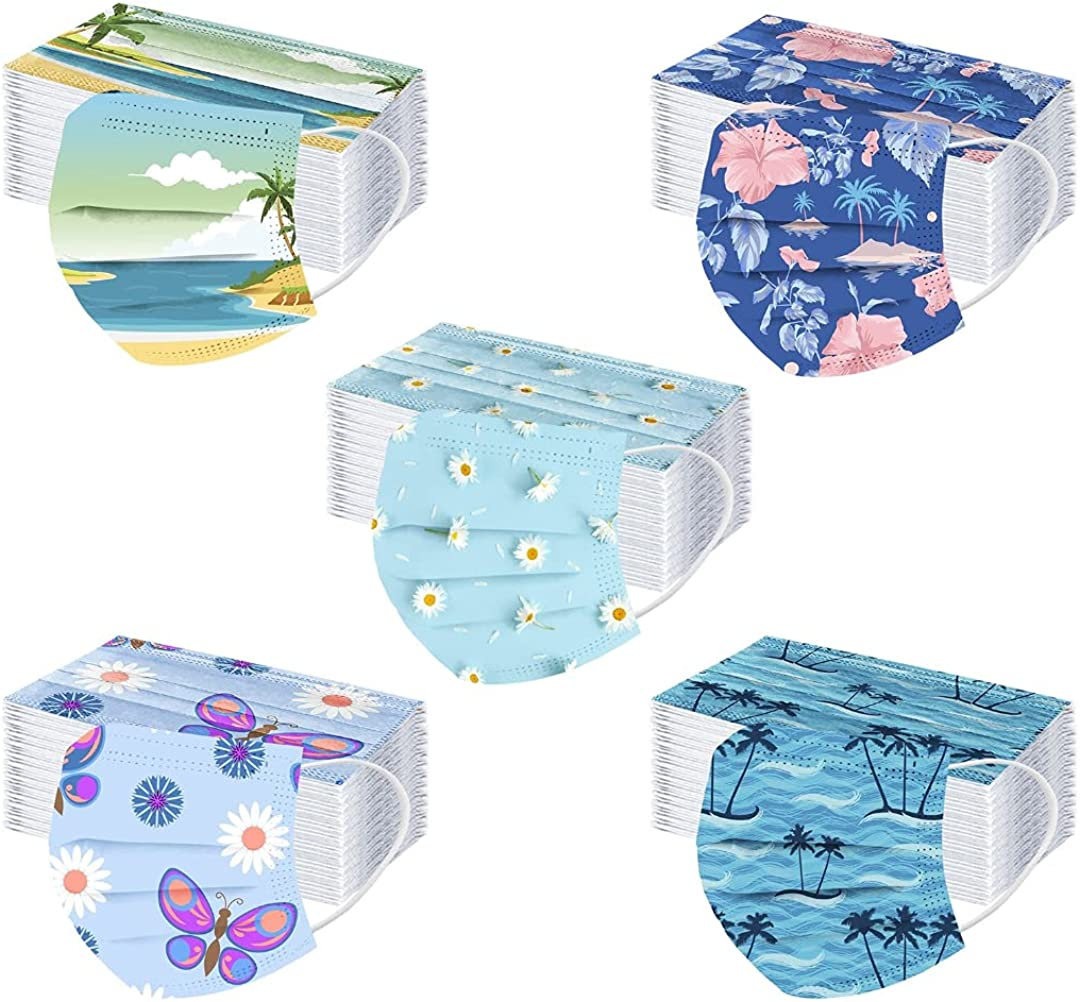 50PC Adults Flower Sale Printed Colorful Disposable Popular brand in the world 3-ply Face_Masks