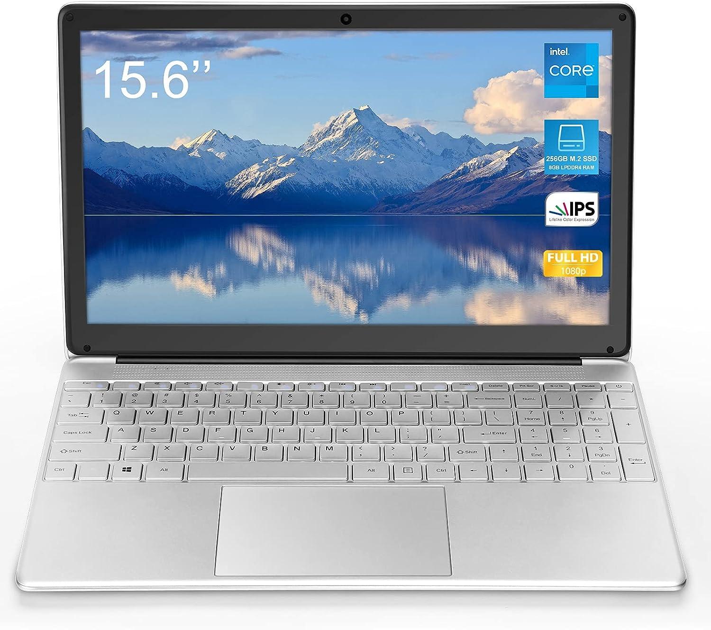 Windows 10 Laptop 15.6 inch (8GB RAM 128GB SSD Storage 1920x1080 Full HD Display Intel Celeron_j3455 CPU Quad-core Computer Windows 10 pre-Installed) 5G WiFi Mini HDMI Webcam Full Digital Keyboard