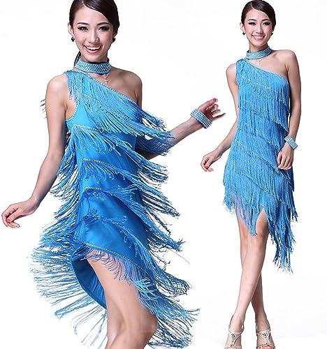 DCL Costumes de Danse Latine Latine Dansent Jupes frangées Robe de Danse Latine compétition