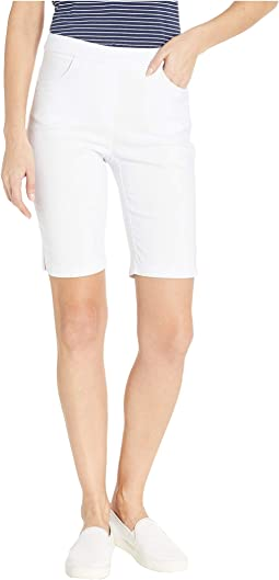 Stretch Bengaline Flatten It Pull-On Shorts