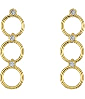 Kate Spade New York - Chain Reaction Delicate Linear Earrings