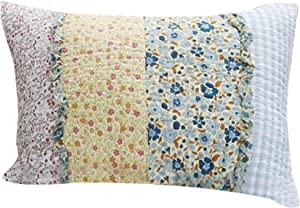 Polyester King Size Quilted Pillow Sham with Ruffle Sewn