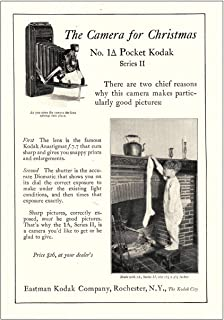RelicPaper 1925 Kodak Pocket No 1A Series II Camera: Christmas, Eastman Kodak Print Ad