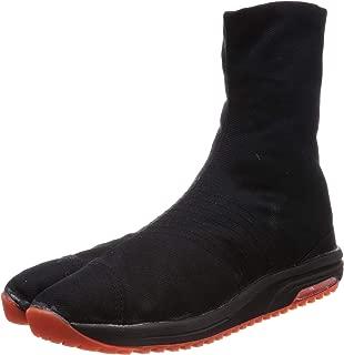 Marugo Japanese Cushioned Tabi Shoes Air Jog V 6 Clasps Toe Boots Short Version