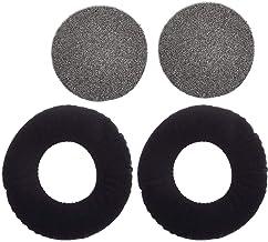Replacement Ear Pads for AKG K240 K241 K242 K270 K271 K272 MkII MK Headphones Velvet Memory Foam Ear Cushions (Black)