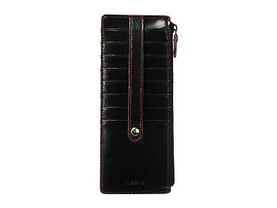 Lodis Accessories Audrey RFID Card Case With Zip Pocket (Black RFID) Credit card Wallet