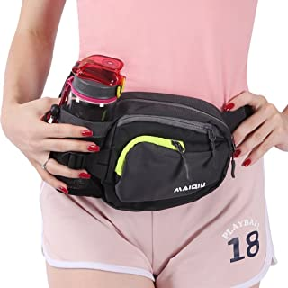 Innokids Hiking Fanny Pack with Water Bottle (Not Included) Holder on Right Side, Outdoor Sports Waist Bag, Running Belt, Lumbar Waist Pack for Walking Jogging Cycling Camping Travel
